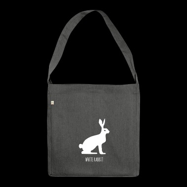 White rabbit, snow hare, fable - Shoulder Bag made from recycled material