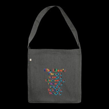 The gay week - Shoulder Bag made from recycled material