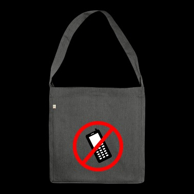 Cellphone prohibited - Shoulder Bag made from recycled material