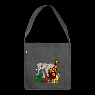 Tiere - Schultertasche aus Recycling-Material