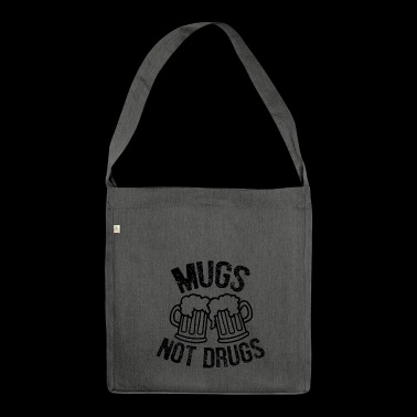Mugs not drugs funny irish - Shoulder Bag made from recycled material