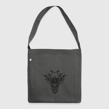 Mystical Animal, Black - Borsa in materiale riciclato