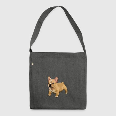 French bulldog - Shoulder Bag made from recycled material