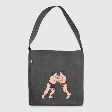 wrestling wrestler sumo boxers boxing12 - Shoulder Bag made from recycled material