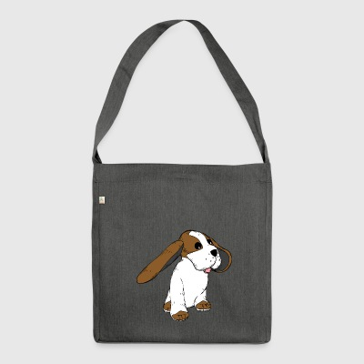 Big Earred Dog - Shoulder Bag made from recycled material