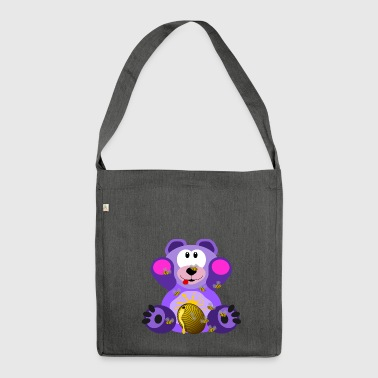 Teddy Bear Baer Cuddly Cuddly Cute Teddy - Shoulder Bag made from recycled material