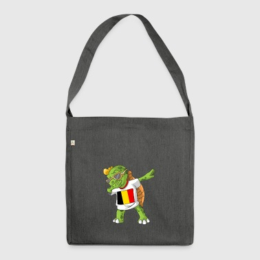 Belgium Dabbing turtle - Shoulder Bag made from recycled material