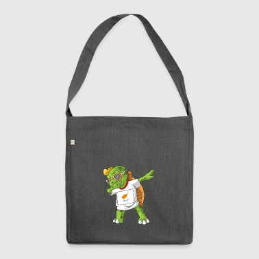 Cyprus Dabbing turtle - Shoulder Bag made from recycled material
