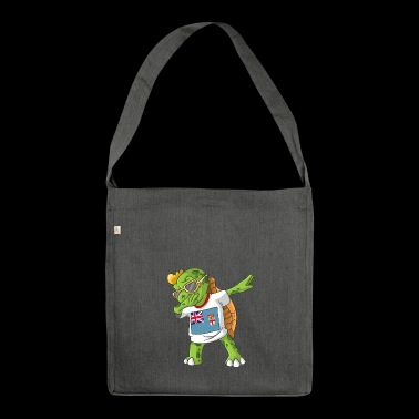 Fiji Dabbing turtle - Shoulder Bag made from recycled material