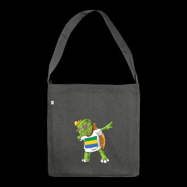 Gabon Dabbing turtle - Shoulder Bag made from recycled material
