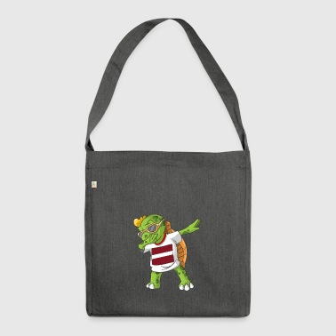 Latvia Dabbing turtle - Shoulder Bag made from recycled material