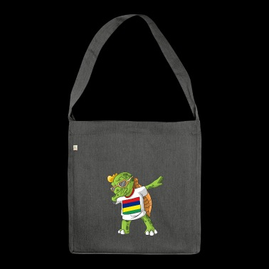 Mauritius Dabbing turtle - Shoulder Bag made from recycled material