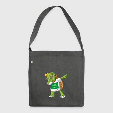 Saudi Arabia Dabbing turtle - Shoulder Bag made from recycled material