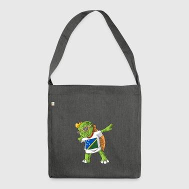Solomon Islands Dabbing turtle - Shoulder Bag made from recycled material