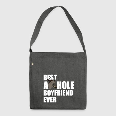 Best Asshole Boyfriend Ever - Shoulder Bag made from recycled material