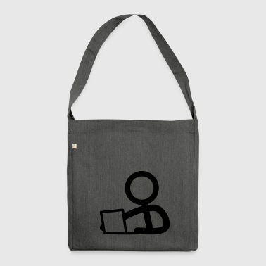 Stickman on the notebook - Shoulder Bag made from recycled material