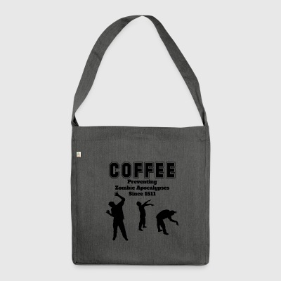 coffee apocalypse - Schultertasche aus Recycling-Material