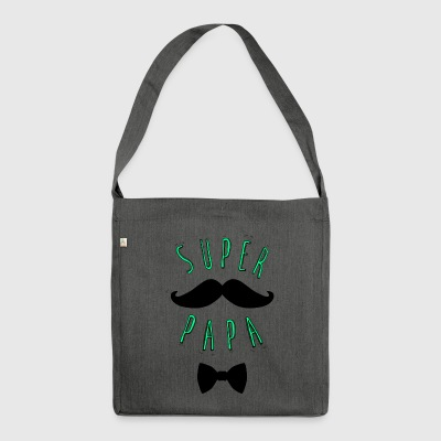 Super mustache dad - Shoulder Bag made from recycled material