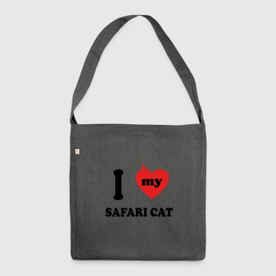 amo gatos gordos SAFARI CAT - Bandolera de material reciclado