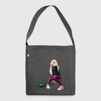 comic girl - Shoulder Bag made from recycled material