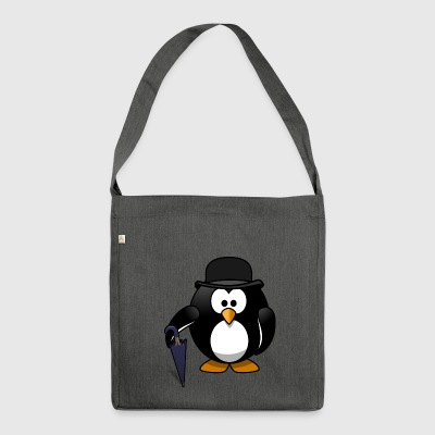Penguin gentleman - Shoulder Bag made from recycled material