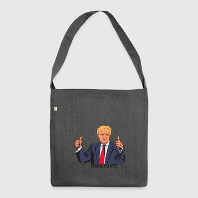 IMMIGRANT TRUMP - Shoulder Bag made from recycled material
