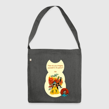 Kitty of Destruction - Shoulder Bag made from recycled material