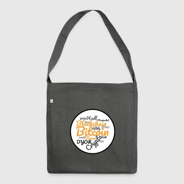 Bitcoin Tag Cloud - Shoulder Bag made from recycled material