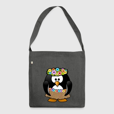Hula penguin - Shoulder Bag made from recycled material