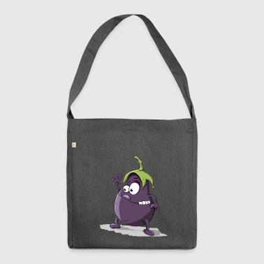 Aubergine - Schultertasche aus Recycling-Material