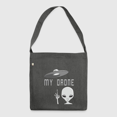Funny alien UFO and drones shirt motif - Shoulder Bag made from recycled material