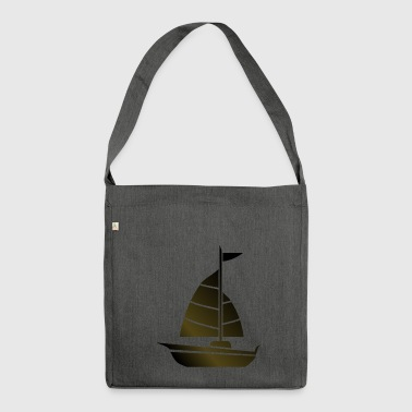 paddle boat sail boat rowing boat sailboat54 - Shoulder Bag made from recycled material