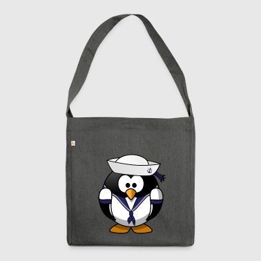 navy tux - Shoulder Bag made from recycled material