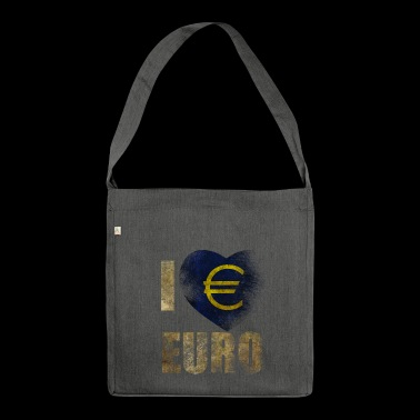 EURO I love Euro - Shoulder Bag made from recycled material
