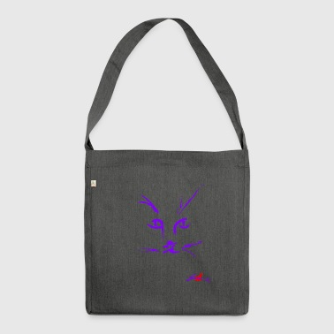 Muzzle PURPLE CAT - Shoulder Bag made from recycled material