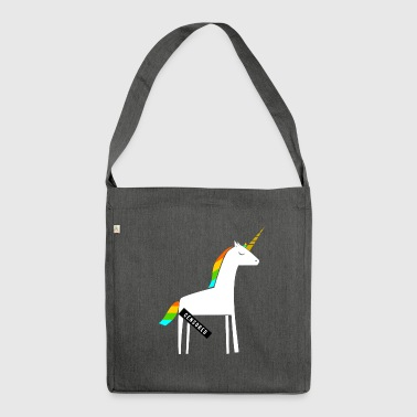 Dirty Unicorn / Funny / provocative - Shoulder Bag made from recycled material