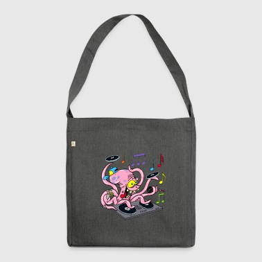 Octopus deejay - Shoulder Bag made from recycled material