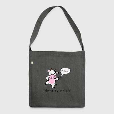 Gift cow funny irony - Shoulder Bag made from recycled material