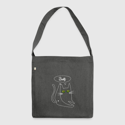 Cat Butt Shirt - Shoulder Bag made from recycled material