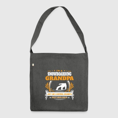Snowboarding Grandpa Shirt Gift Idea - Shoulder Bag made from recycled material