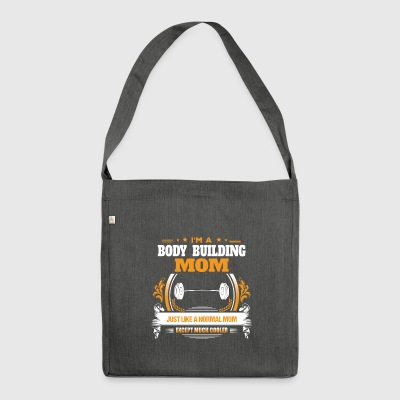 Body Building Mom Shirt Gift Idea - Shoulder Bag made from recycled material