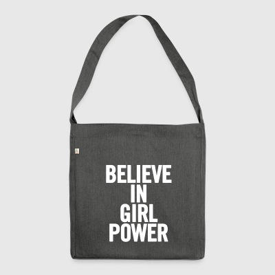 Believe In Girl Power White - Shoulder Bag made from recycled material