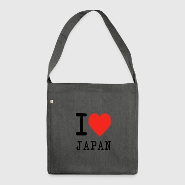 I love Japan - Schultertasche aus Recycling-Material