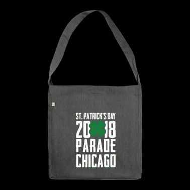 St Patrick Tag 2018 Parade Chicago Shamrock - Schultertasche aus Recycling-Material
