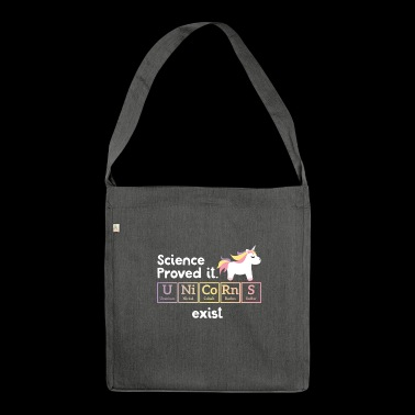 Funny Unicorn - Periodic Table - Gift - Shoulder Bag made from recycled material
