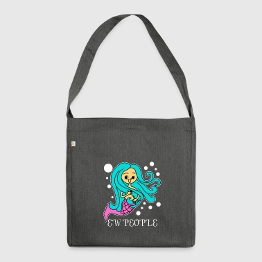 Ew People Cute Mermaid Funny Introvert Anti-Social - Shoulder Bag made from recycled material