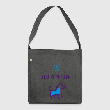 year of dog hund chinesisches horoskop astrologie - Schultertasche aus Recycling-Material