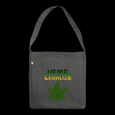 Legalize Hemp - Shoulder Bag made from recycled material