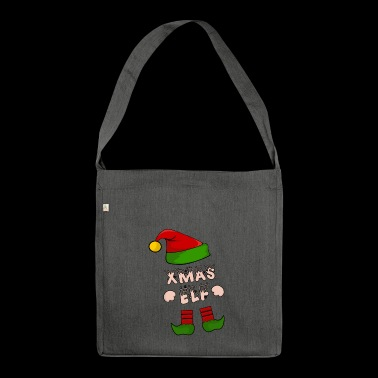 Xmas Elf - Christmas Elf - Gift - Shoulder Bag made from recycled material