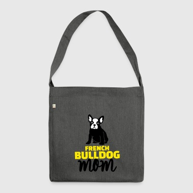 yellow bulldog mom yellow - Shoulder Bag made from recycled material